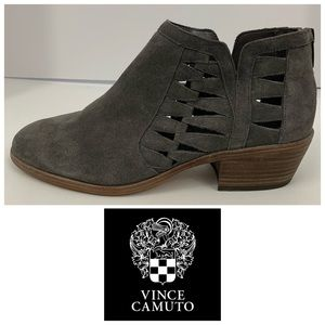 """Vince Camuto """"Peera"""" Suede Cutout Ankle Booties"""